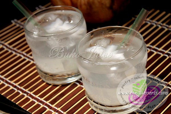 Buko Juice Recipe (Coconut Juice)