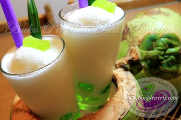 Buko Pandan Pearl Coolers Recipe