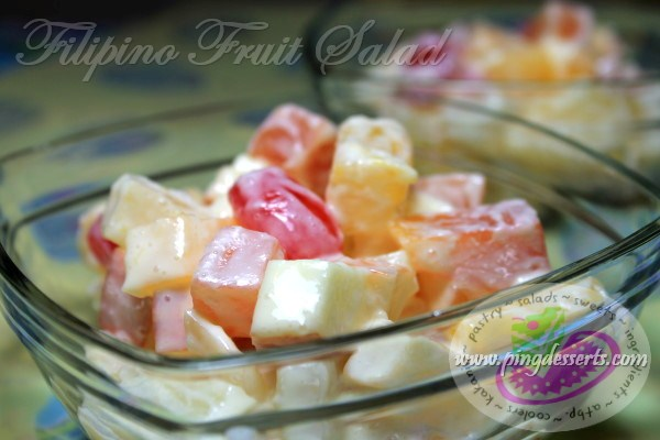 filipino fruit salad what fruits are in season