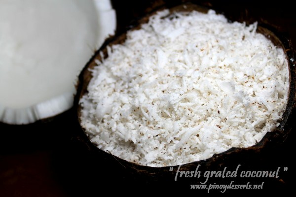 fresh grated coconut
