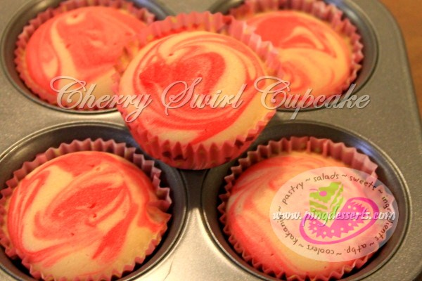 Cherry Swirl Cupcake Recipe