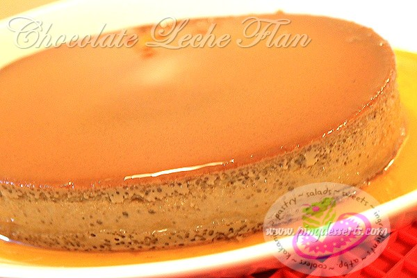 chocolate leche flan recipe3