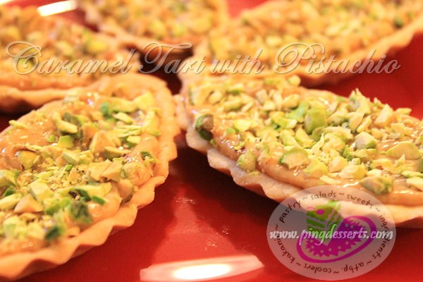 Caramel Tart with Pistachio Nuts Recipe.