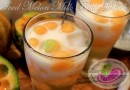 Iced Melon Milk Balls Recipe