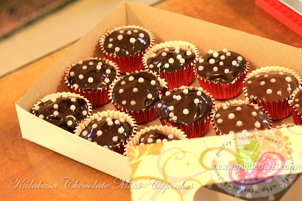 Kalabasa Chocolate Mini-Cupcake Recipe