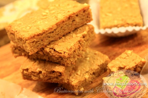 Butterscotch Bar Recipe