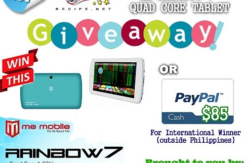 Join the ME-Rainbow 7 Quad-core Android Tablet Giveaway