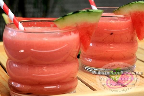 Watermelon & Banana Yogurt Smoothie Recipe | Filipino Dessert Recipes ...